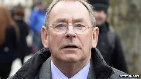 Fred Talbot leaving the court in Manchester