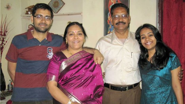 Suruchi's family - brother Prashant Sharma, her mother Asha Sharma, father Pramod Kumar Sharma and Suruchi