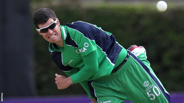 George Dockrell in action against Pakistan last year