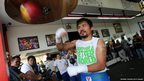 Manny Pacquiao takes part in a training session