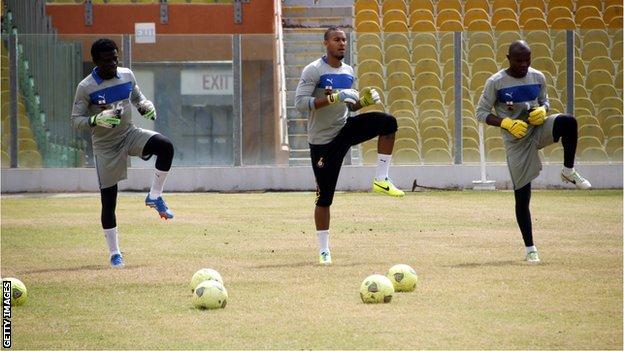 Fatau Dauda, Adam Kwarasey and Daniel Agyei