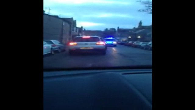 Driver is stopped by police