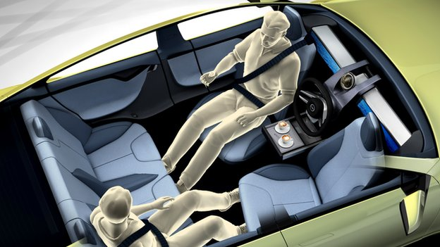 illustration of Rinspeed XchangE concept car