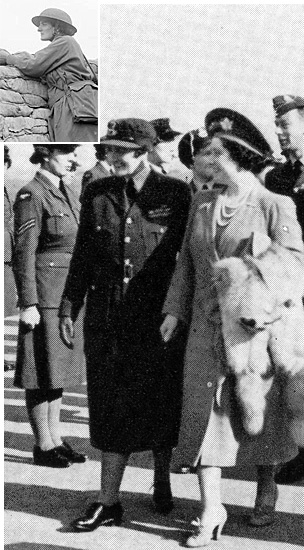 Elsie Knocker, Queen Elizabeth, King George VI