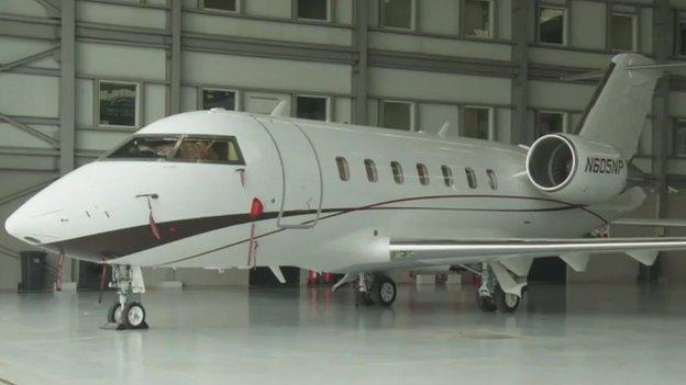 A private jet in Lagos, Nigeria (February 2014)