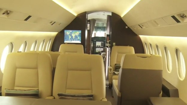 The inside of a jet in Lagos, Nigeria (February 2014)