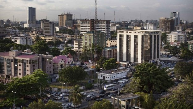 A view of buildings in the Victoria Island district of Lagos (29 October 2013)