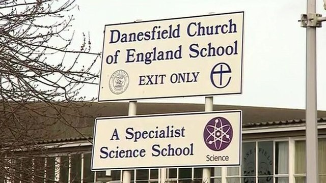 Front of Danesfield School