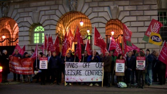 The Unite and Nipsa unions have previously held protests over the plans