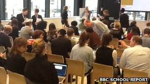 BBC staff at Hour of Code session