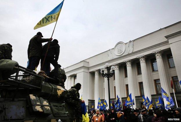 Protesters in Kiev (27 February)