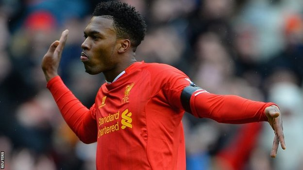 Liverpool and England striker Daniel Sturridge