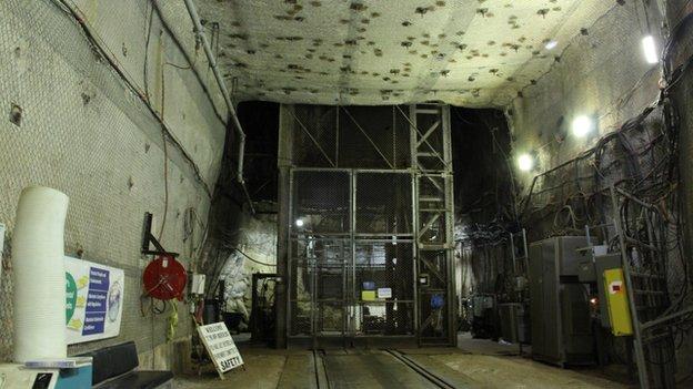 underground lift entrance 3 October 2013