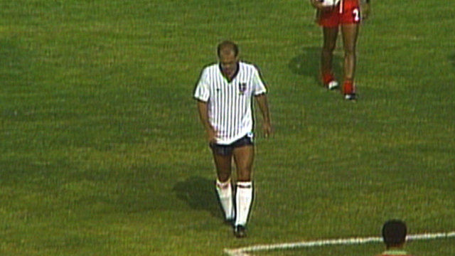 Ray Wilkins is sent off against Morocco