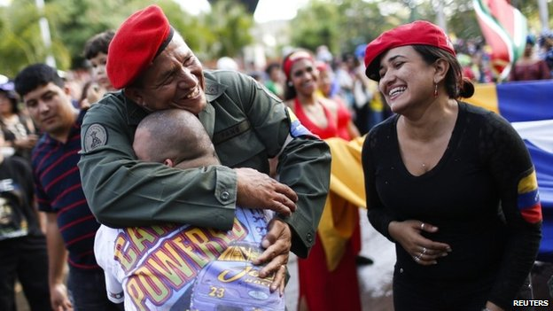 Chavez lookalike in Caracas