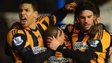 Hull City players celebrate