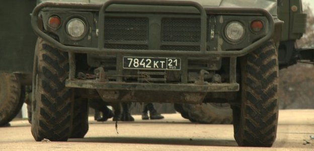 Russian number plate at Belbek airbase