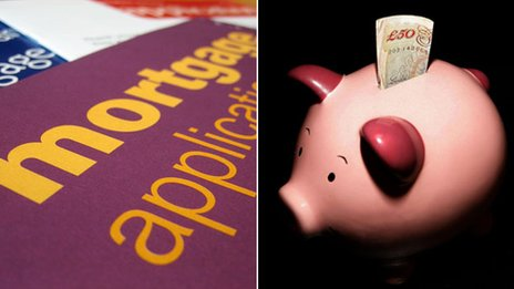 Mortgage application and piggy bank