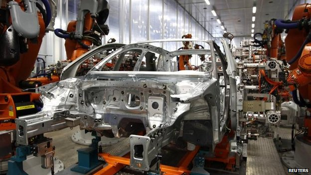 Audi car production
