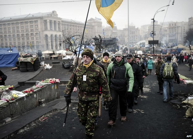 "A ""Maidan self-defence unit"", Kiev"