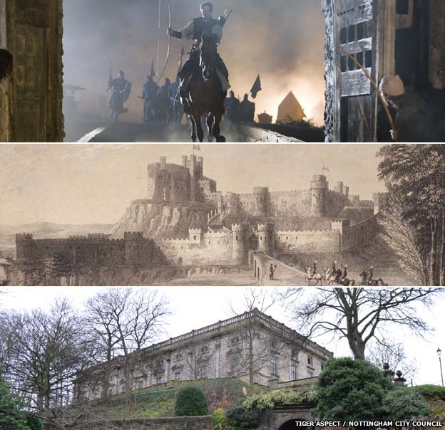 Robin Hood BBC One Series and Nottingham's medieval castle