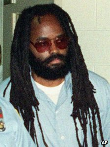 Mumia Abu Jamal, seen in 1995