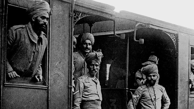 World War One, British Army: Indian troops
