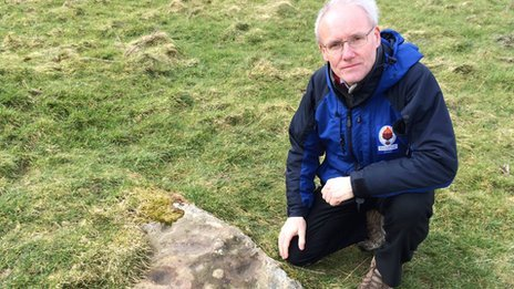 Alan Bowring and the stone