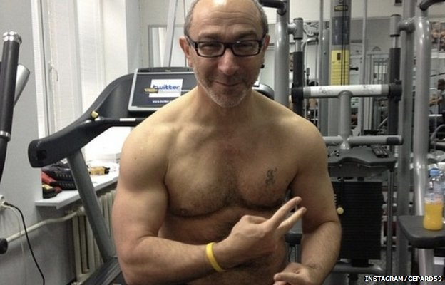 Gennady Kernes poses in the gym