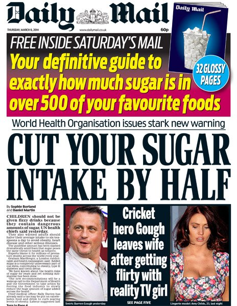 Daily Mail front page, 6/4/14