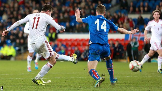 Gareth Bale scores for Wales