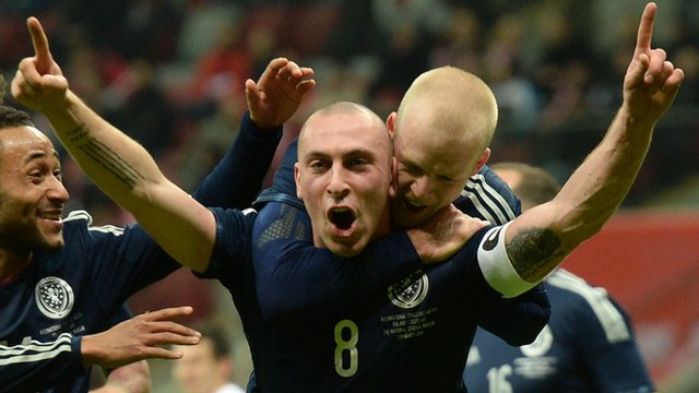 Interview - Scotland captain Scott Brown (centre)