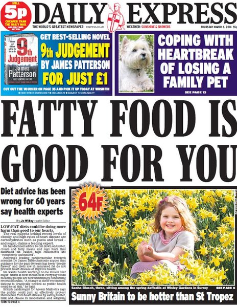 Daily Express front page, 6/3/14