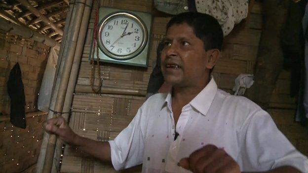 Tailor Maung Ni in Aung Mingalar, Rakhine state, Myanmar
