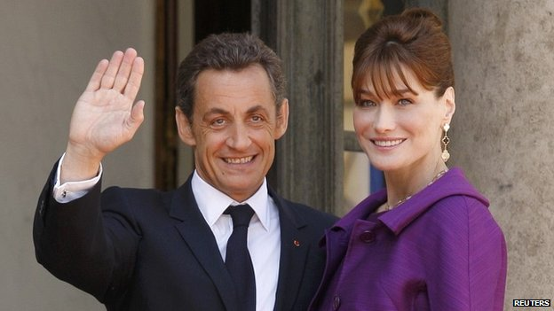 French President Nicolas Sarkozy and his wife Carla Bruni-Sarkozy