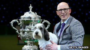 Petit Basset Griffon Vendeen Jilly, with owner Gavin Robertson,