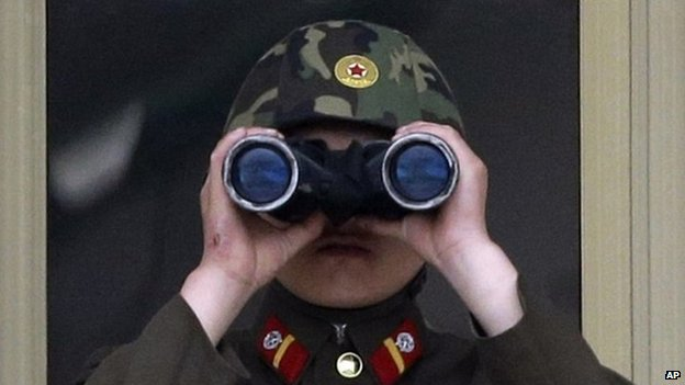 File photo of a North Korean soldier at the border village of Panmunjom