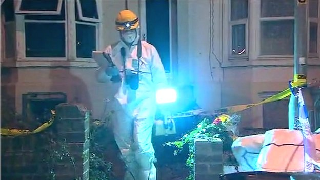 Murder scene on Midland Road, Wellingborough