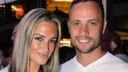 Olympian sprinter Oscar Pistorius with his girlfriend Reeva Steenkamp in Johannesburg on 26 January 2013