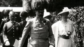 Archduke Franz Ferdinand and his wife in Sarajevo in 1914