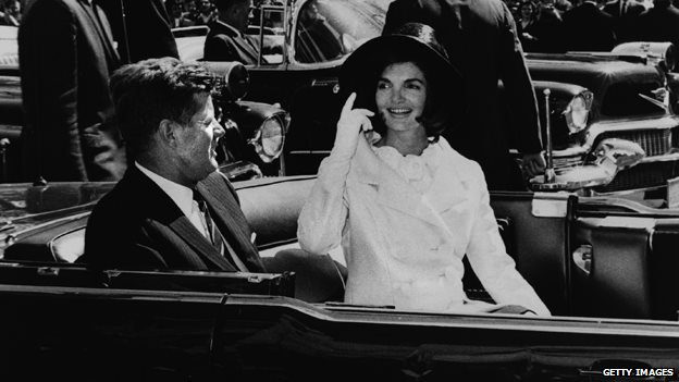 President John F Kennedy and First Lady Jacqueline Kennedy