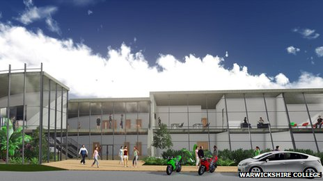 Artist's impression of new development at Pershore College