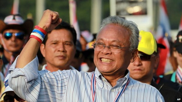 File photo of Thai protest leader Suthep Thaugsuban in Thailand