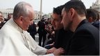 Jerome Kerviel and his lawyer David Koubbi meet the Pope on 19 February