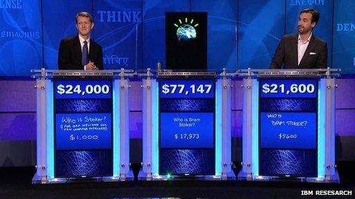 Watson plays Jeopardy
