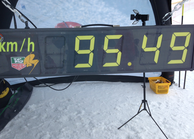 Board shows speed of skiers