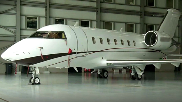 A private jet in Lagos, Nigeria (February 2014)
