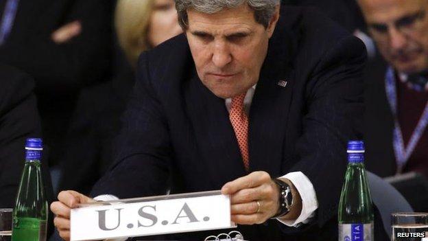 Secretário de Estado dos EUA John Kerry em Roma de 6 de março