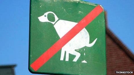 """""""No dog poo"""" sign"""