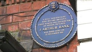 J Arthur Rank blue plaque